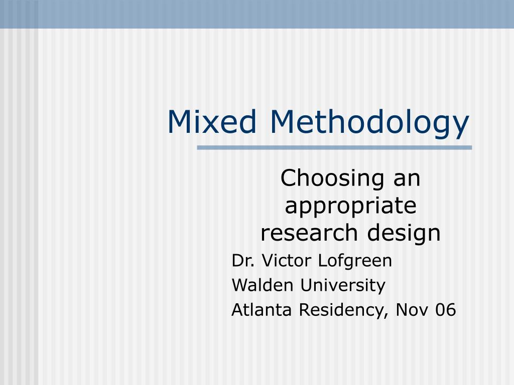 mixed methodology l.