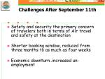 challenges after september 11th