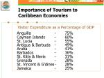 importance of tourism to caribbean economies