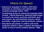 effects on speech