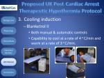 proposed uk post cardiac arrest therapeutic hypothermia protocol107