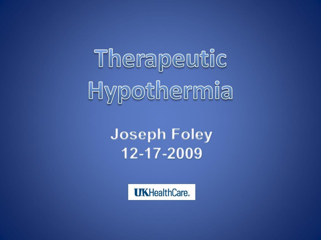 therapeutic hypothermia l.