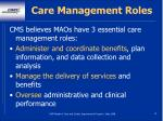 care management roles