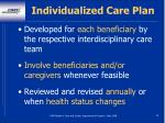individualized care plan