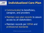 individualized care plan47