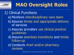 mao oversight roles22