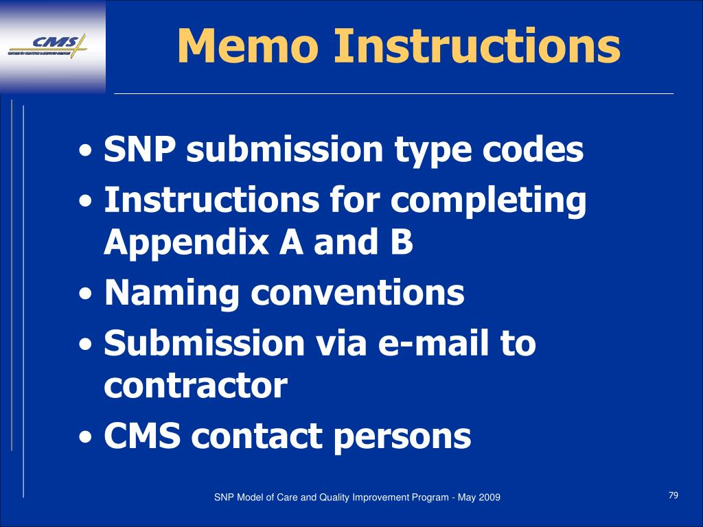 Memo Instructions