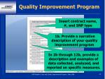 quality improvement program90