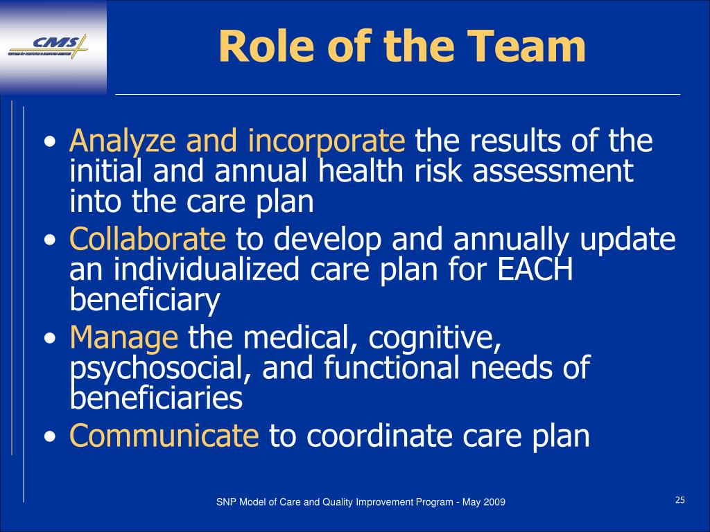 Role of the Team