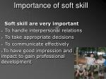 importance of soft skill