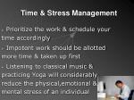 time stress management