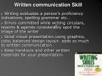 written communication skill
