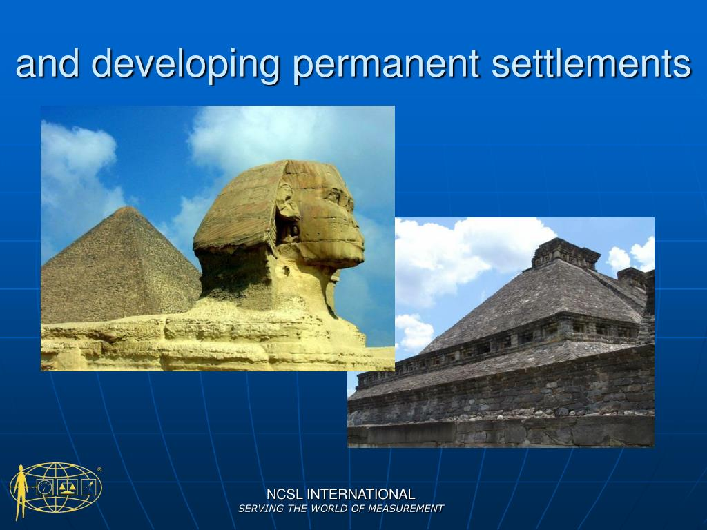and developing permanent settlements