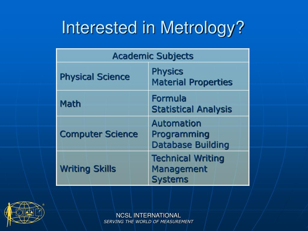 Interested in Metrology?