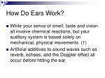 how do ears work