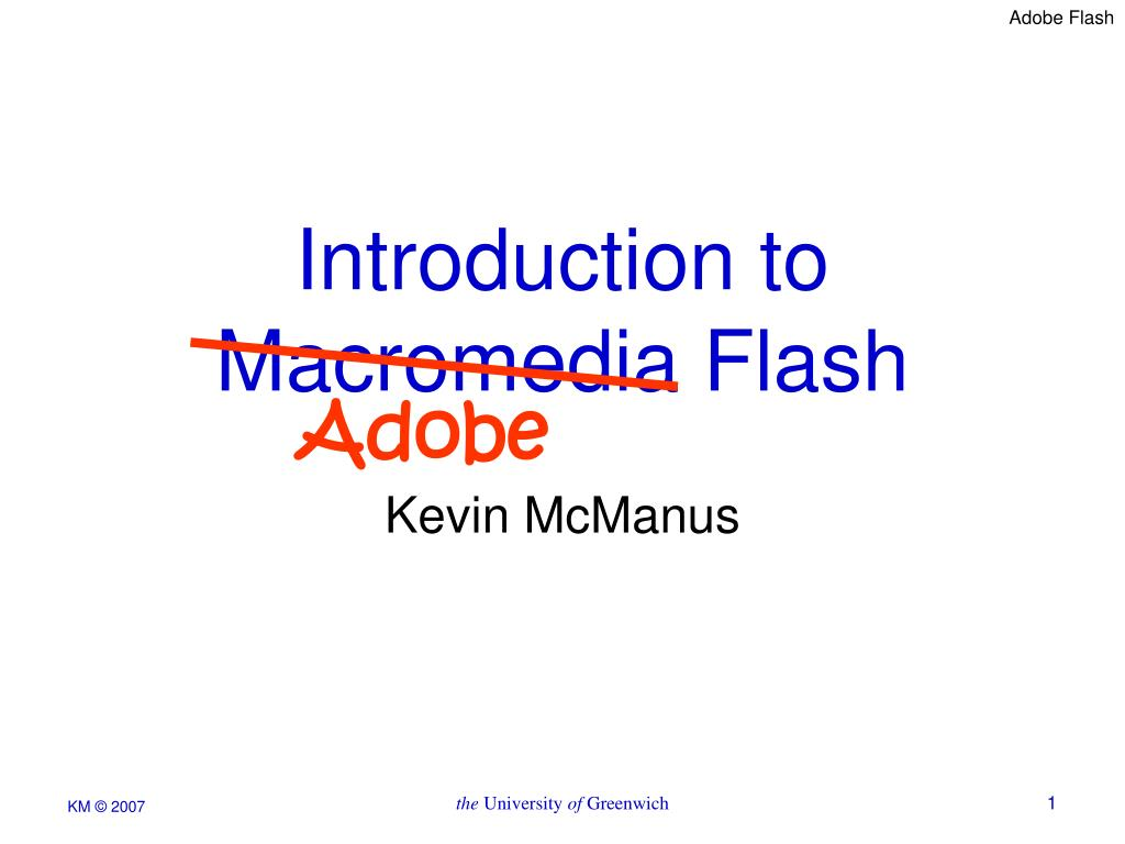 introduction to macromedia flash l.
