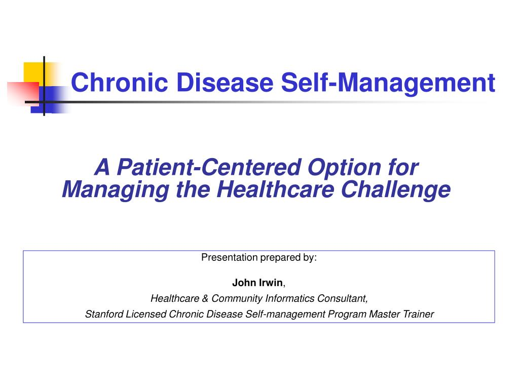 chronic disease self management l.