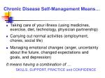 chronic disease self management means
