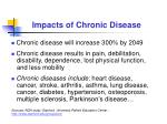 impacts of chronic disease