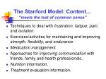 the stanford model content meets the test of common sense