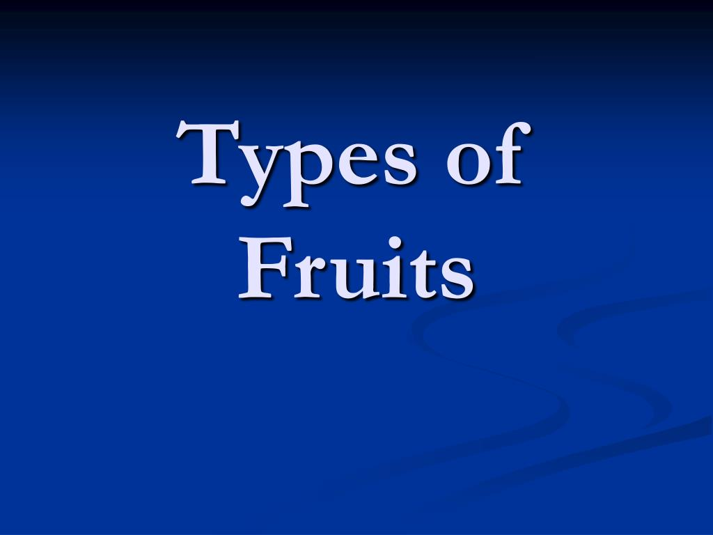 types of fruits l.
