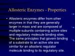 allosteric enzymes properties
