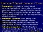 kinetics of allosteric enzymes terms
