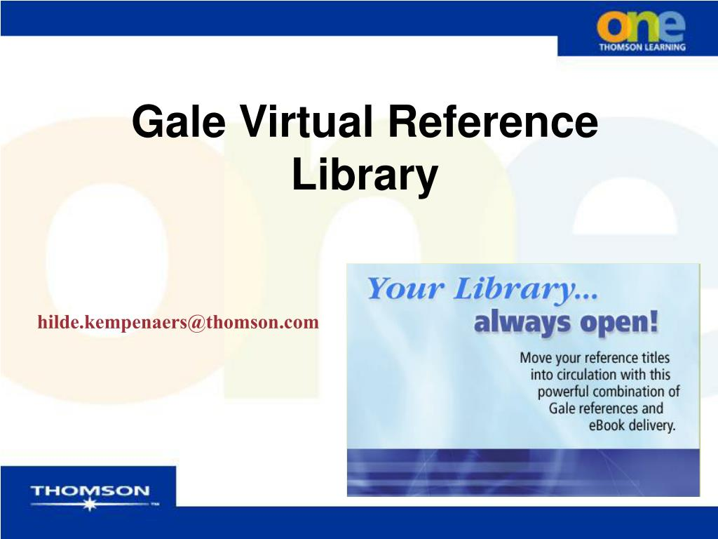 gale virtual reference library l.