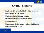 gvrl features