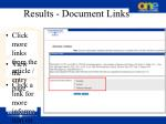results document links