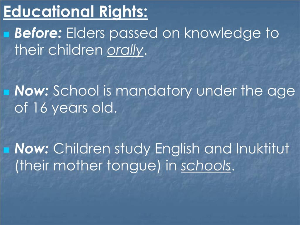 Educational Rights: