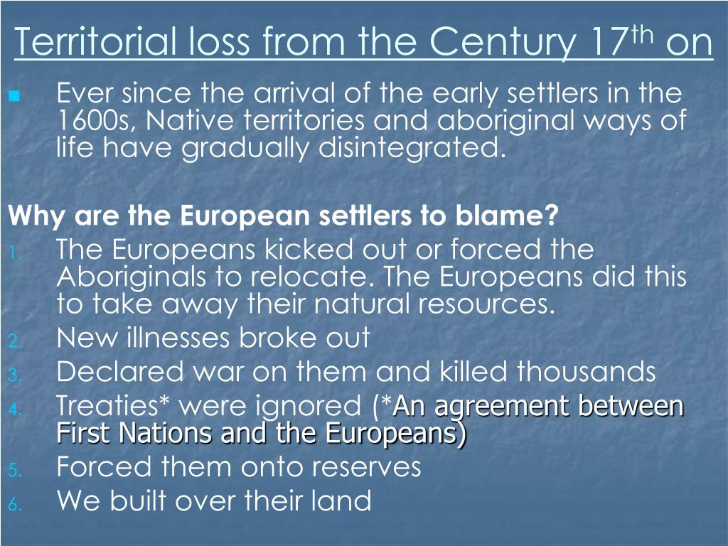 Territorial loss from the Century 17