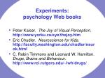 experiments psychology web books