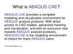 what is abaqus cae