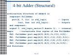 4 bit adder structural