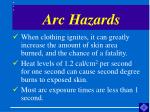 arc hazards