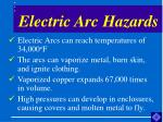 electric arc hazards
