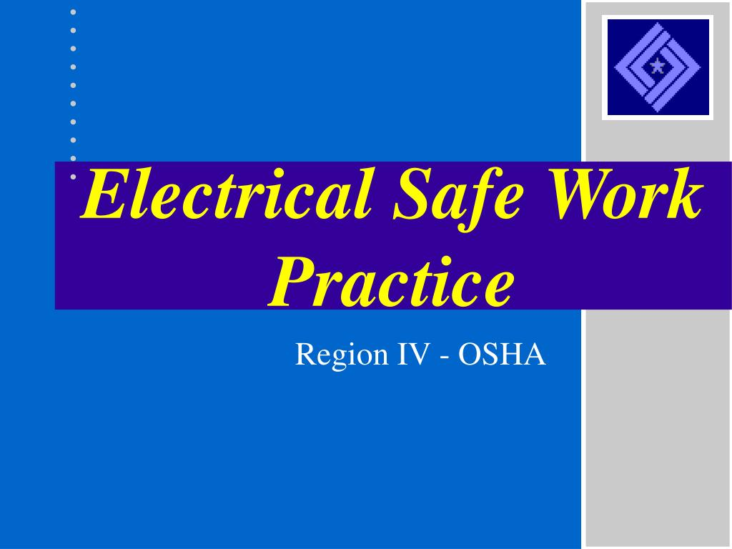 electrical safe work practice l.