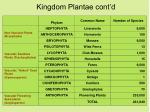 kingdom plantae cont d