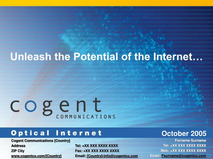 Unleash the Potential of the Internet…