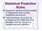 statistical prediction rules