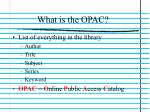 what is the opac