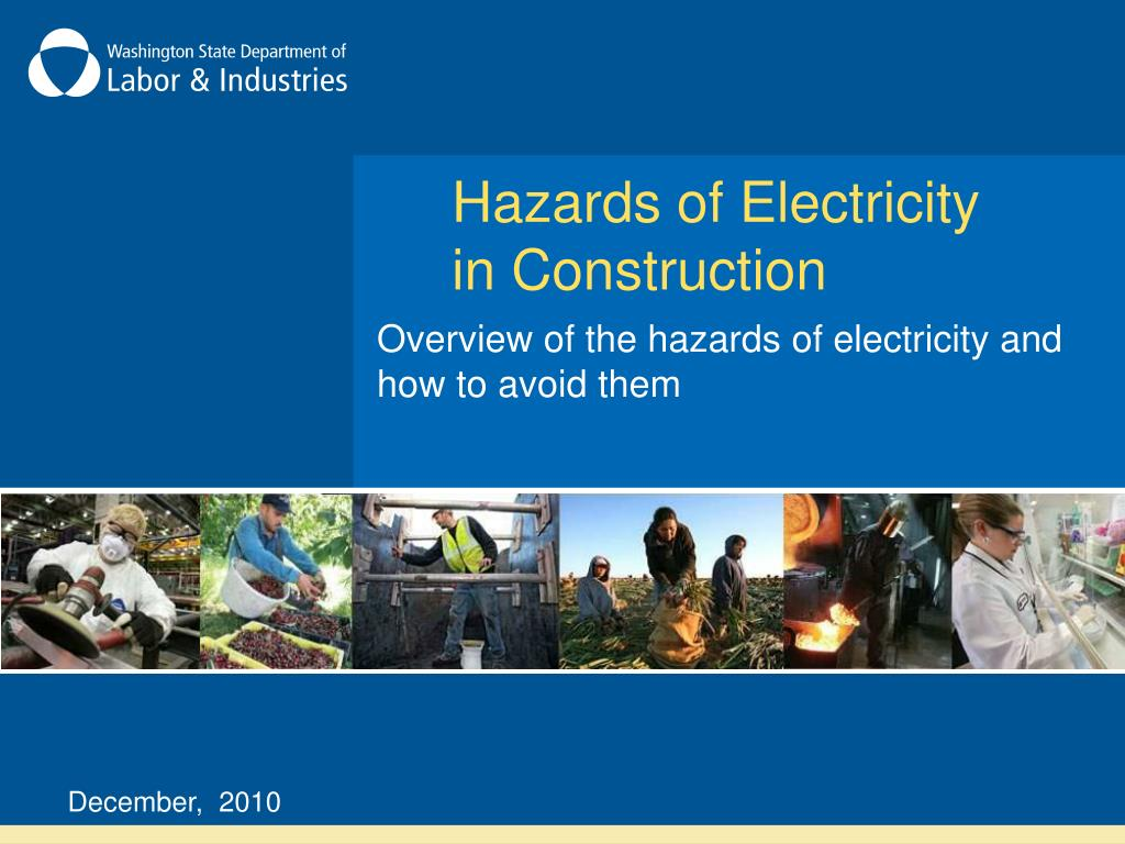 hazards of electricity in construction l.