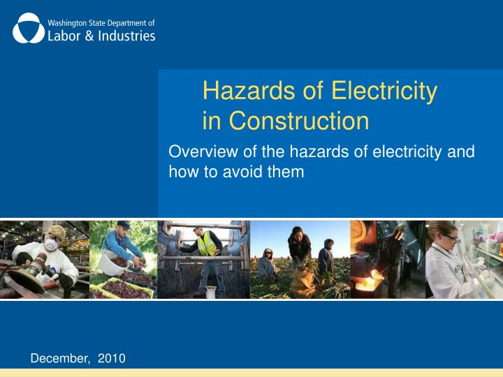 hazards of electricity in construction n.