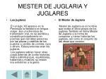 mester de juglaria y juglares