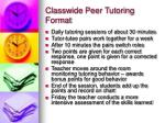 classwide peer tutoring format