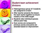 student team achievement divisions