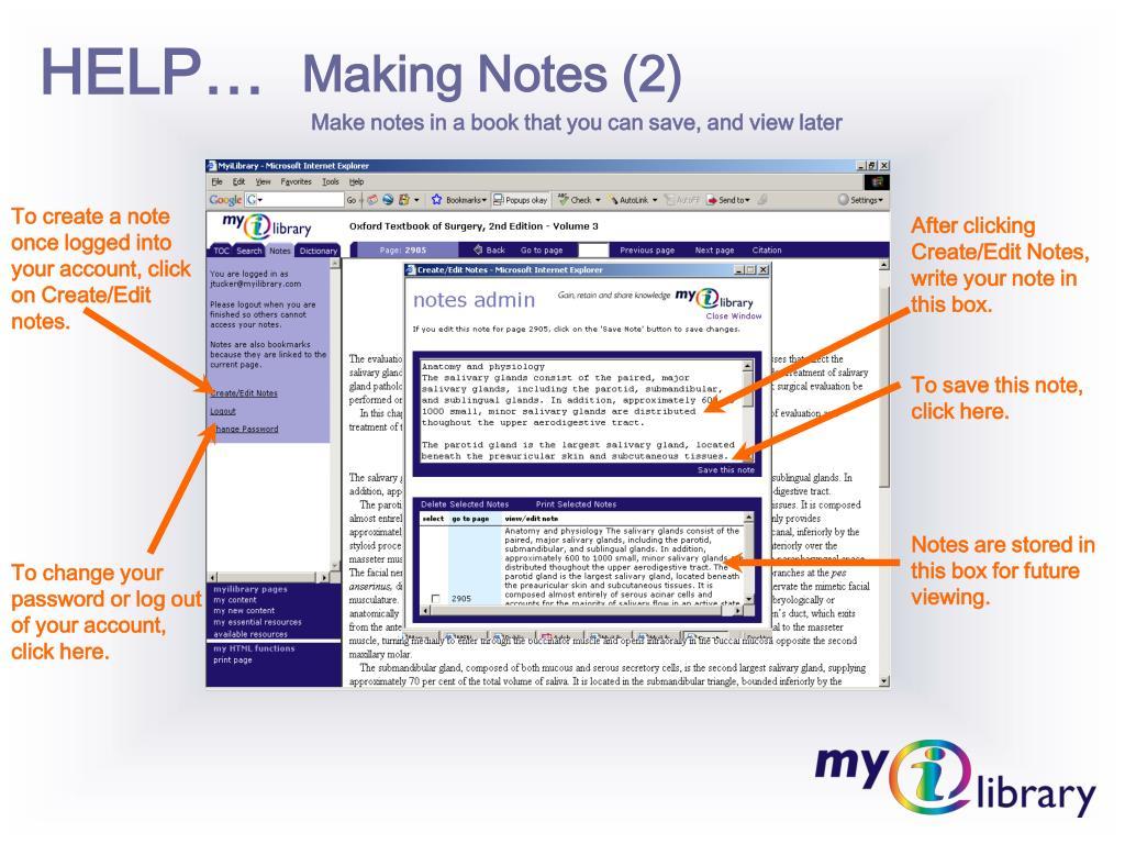 Making Notes (2)