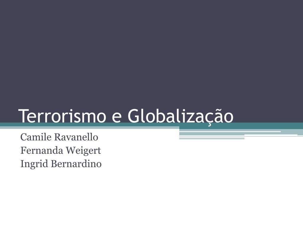 terrorismo e globaliza o l.