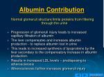 albumin contribution